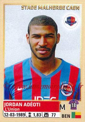 2014-15 - Panini Ligue 1 Stickers - N° 061 - Jordan ADEOTI (SM Caen)