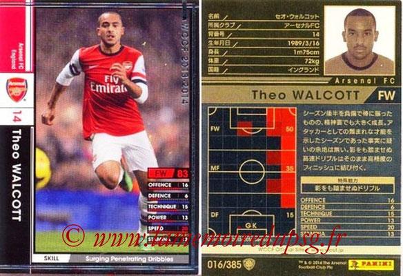 2013-14 - WCCF - N° 016 - Theo WALCOTT (Arsenal FC)