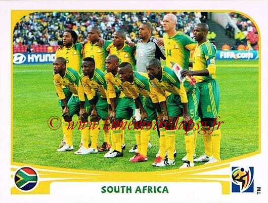 2010 - Panini FIFA World Cup South Africa Stickers - N° 030 - Équipe Afrique du Sud