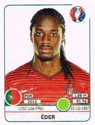Panini Euro 2016 Stickers - N° 595 - EDER (Portugal)