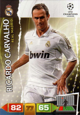 2011-12 - Panini Champions League Cards - N° 228 - Ricardo CARVALHO (Real Madrid CF)