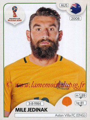 2018 - Panini FIFA World Cup Russia Stickers - N° 224 - Mile JEDINAK (Australie)