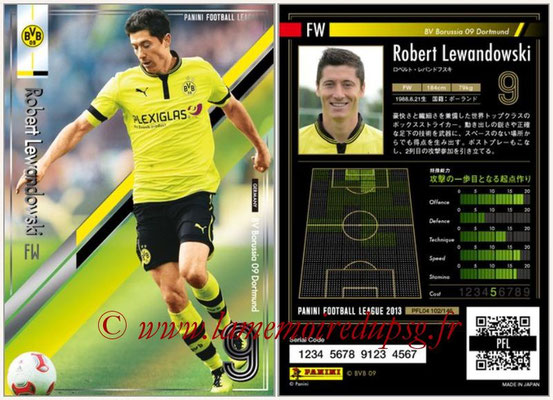 Panini Football League 2013 - PFL04 - N° 102 - Robert LEWANDOWSKI(Borussia Dortmund)