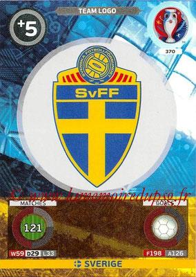 Panini Euro 2016 Cards - N° 370 - Logo de Suède (Team Logo)