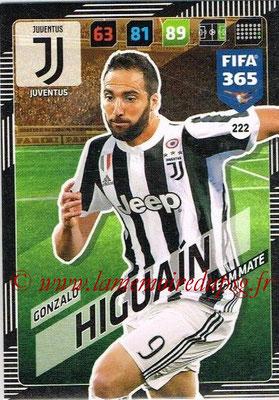 2017-18 - Panini FIFA 365 Cards - N° 222 - Gonzalo HIGUAIN (Juventus)