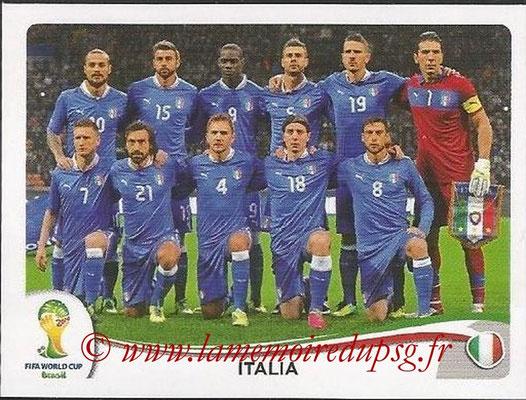 2014 - Panini FIFA World Cup Brazil Stickers - N° 318 - Equipe Italie