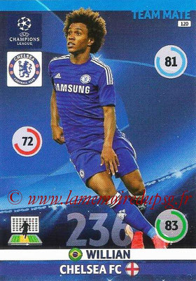 2014-15 - Adrenalyn XL champions League N° 120 - WILLIAN (Chelsea FC)