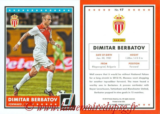 2015 - Panini Donruss Soccer - N° 017 - Dimitar BERBATOV (AS Monaco)