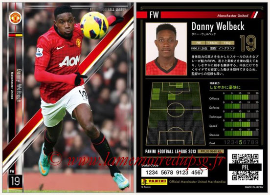 Panini Football League 2013 - PFL03 - N° 064 - Danny Welbeck (Manchester United)