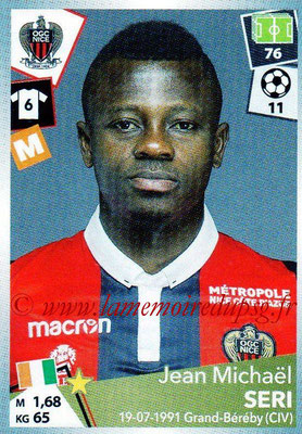 2017-18 - Panini Ligue 1 Stickers - N° 351 - Jean Michaël SERI (Nice)