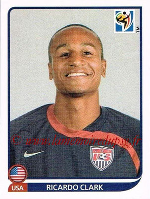 2010 - Panini FIFA World Cup South Africa Stickers - N° 211 - Ricardo CLARK (États Unis)