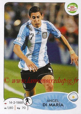 2014 - Panini Road to FIFA World Cup Brazil Stickers - N° 062 - Angel DI MARIA (Argentine)