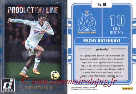2016 - Panini Donruss Cards - N° PL16 - Michy BATSHUAYI (Olympique de Marseille) (Production Line)