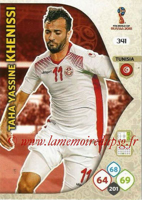 2018 - Panini FIFA World Cup Russia Adrenalyn XL - N° 341 - Taha Yassine KHENISSI (Tunisie)