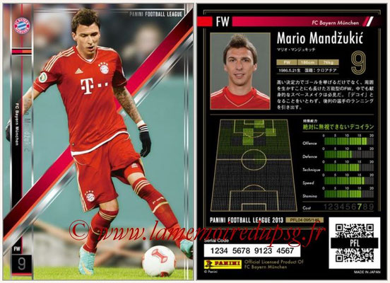Panini Football League 2013 - PFL04 - N° 095 - Mario MANDZUKIC (Bayern Munich)