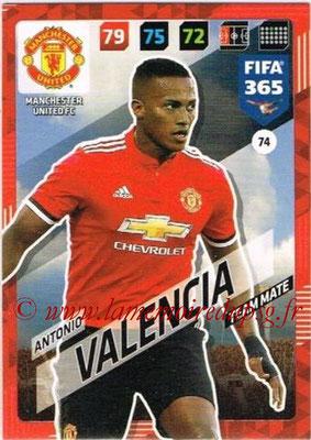 2017-18 - Panini FIFA 365 Cards - N° 074 - Antonio VALENCIA (Manchester United)