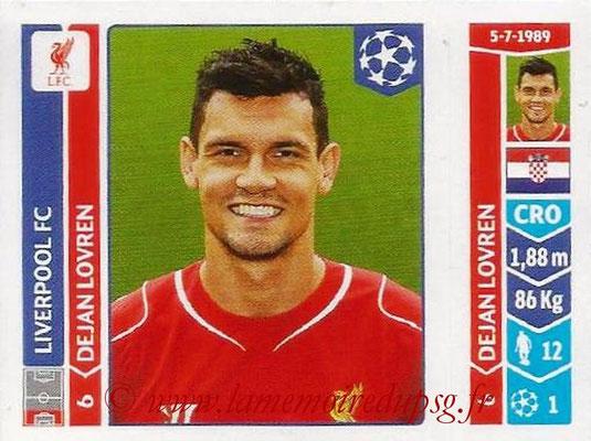 2014-15 - Panini Champions League N° 148 - Dejan LOVREN (Liverpool FC)