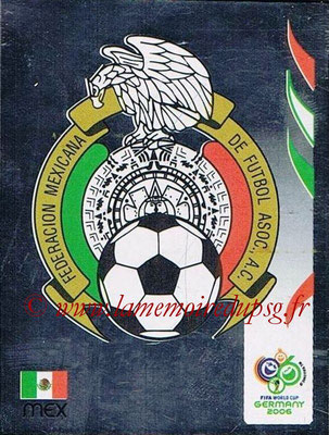 2006 - Panini FIFA World Cup Germany Stickers - N° 245 - Logo Méxique