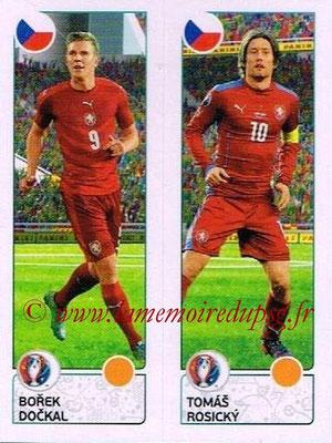 Panini Euro 2016 Stickers - N° 383 - Borek DOCKAL + Tomas ROSICKY (République Tchèque)
