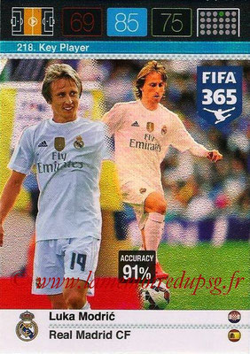 2015-16 - Panini Adrenalyn XL FIFA 365 - N° 218 - Luka MODRIC (Real Madrid CF) (Key Player)