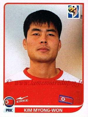 2010 - Panini FIFA World Cup South Africa Stickers - N° 519 - Kim MYONG-WON (Corée du Nord)