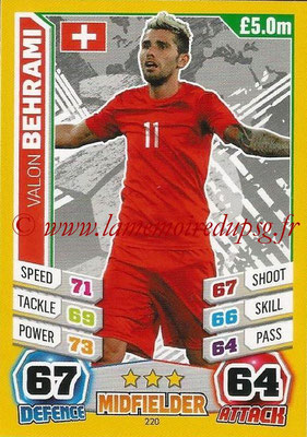 Topps Match Attax England 2014 - N° 220 - Valon BEHRAMI (Suisse)