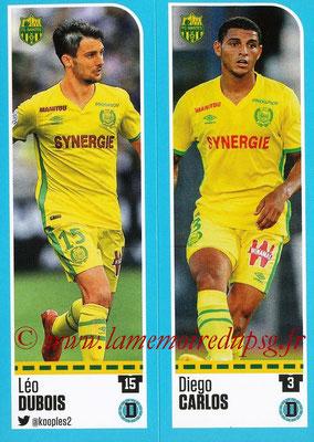 2016-17 - Panini Ligue 1 Stickers - N° 598 + 599 - Léo DUBOIS + Diego CARLOS (Nantes)