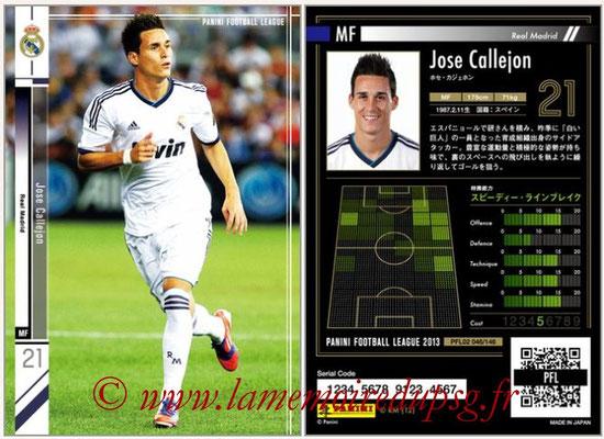 Panini Football League 2013 - PFL02 - N° 046 - Jose Callejon ( Real Madrid )