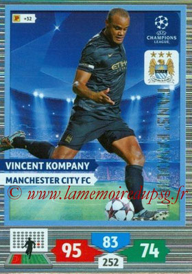 2013-14 - Adrenalyn XL champions League N° 305 - Vincent KOMPANY (Manchester City FC) (Fans' Favourite)