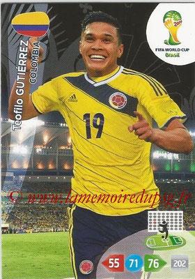 2014 - Panini FIFA World Cup Brazil Adrenalyn XL - N° 087 - Teofilo GUTIERREZ (Colombie)