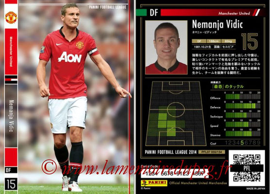 Panini Football League 2014 - PFL07 - N° 055 - Nemanja VIDIC (Manchester United)