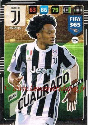 2017-18 - Panini FIFA 365 Cards - N° 224 - Juan CUADRADO (Juventus)