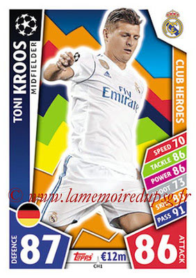 2017-18 - Topps UEFA Champions League Match Attax - N° CH01 - Toni KROOS (Real Madrid CF) (Club Heroes)