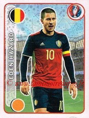 Panini Euro 2016 Stickers - N° 485 - Eden HAZARD (Belgique)