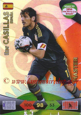 2014 - Panini Road to FIFA World Cup Brazil Adrenalyn XL - N° 226 - Iker CASILLAS (Espagne) (Master)