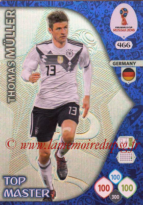 2018 - Panini FIFA World Cup Russia Adrenalyn XL - N° 466 - Thomas MÜLLER (Allemagne) (Top Master)