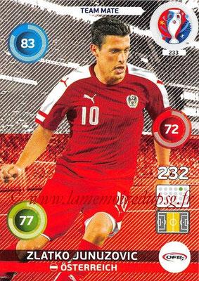 Panini Euro 2016 Cards - N° 233 - Zlatko JUNUZOVIC (Autriche)