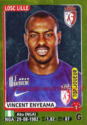 2015-16 - Panini Ligue 1 Stickers - N° 151 - Vincent ENYEAMA (Lille OSC) (Top joueur)
