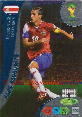 2014 - Panini FIFA World Cup Brazil Adrenalyn XL - N° 332 - Bryan RUIZ (Costa Rica) (Fan's favorite)