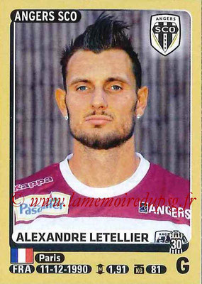 2015-16 - Panini Ligue 1 Stickers - N° 027 - Alexandre LETELLIER (SCO Angers)