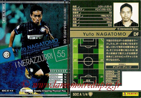 2013-14 - WCCF - N° SOC A1 - Yuto NAGATOMO (FC Inter Milan) (Stars Of The Club)
