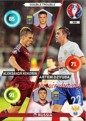 Panini Euro 2016 Cards - N° 328 - Aleksandr KOKORIN + Artem DZYUBA (Russie) (Double Trouble)