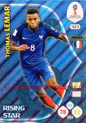 2018 - Panini FIFA World Cup Russia Adrenalyn XL - N° 423 - Thomas LEMAR (France) (Rising Star)