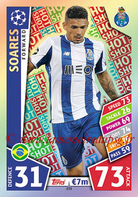 2017-18 - Topps UEFA Champions League Match Attax - N° 233 - SOARES (FC Porto) (Hot Shot)