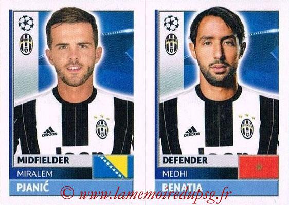 2016-17 - Topps UEFA Champions League Stickers - N° JUV 14-15 - Medhi BENATIA + Miralem PIANIC (Juventus FC)