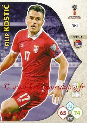 2018 - Panini FIFA World Cup Russia Adrenalyn XL - N° 314 - Filip KOSTIC (Serbie)