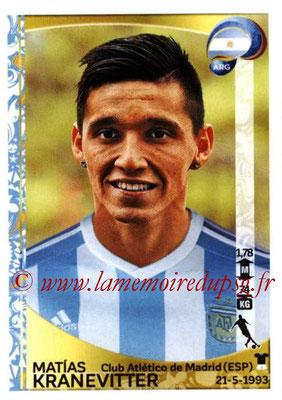 Panini Copa America Centenario USA 2016 Stickers - N° 315 - Matias KRANEVITTER (Argentine)