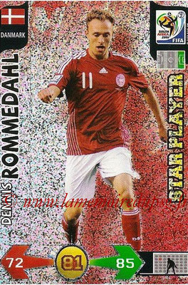 2010 - Panini FIFA World Cup South Africa Adrenalyn XL - N° 086 - Dennis ROMMEDAHL (Danemark) (Star Player)