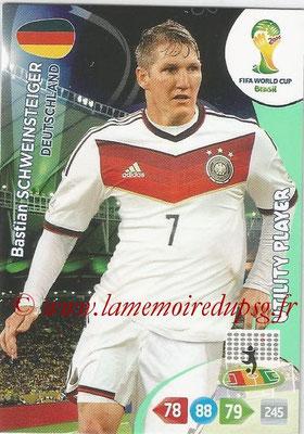 2014 - Panini FIFA World Cup Brazil Adrenalyn XL - N° 109 - Bastian SCHWEINSTEIGER (Allemagne) (Utility Player)
