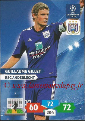 2013-14 - Adrenalyn XL champions League N° 042 - Guillaume GILLET (RSC Anderlecht)